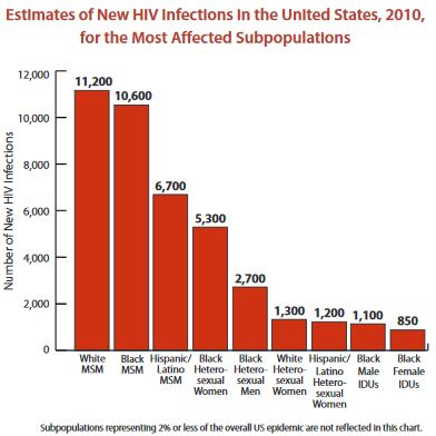 2010 Estimates of HIV Infection by Race and Gender